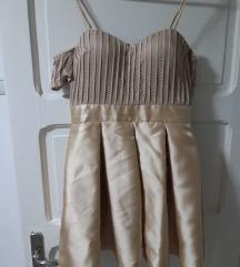 Elegantna zlatno-bez haljina