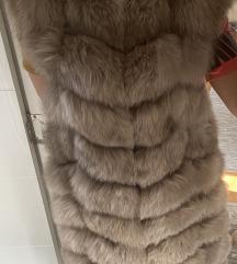 XL Prsluk od polarne lisice 100% prirodno krzno