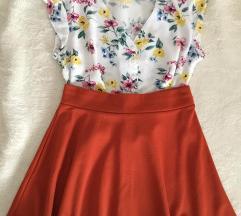 New yorker narandžasta suknja A kroja S