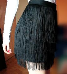 Crna suknja sa resama
