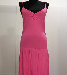 Roza pamučna haljina