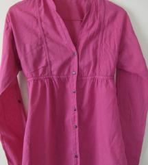 Roze lanena košulja