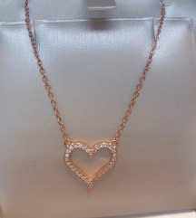 Srebrna ogrlica 925 SRCE