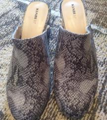 Snake print papuče sa štiklom