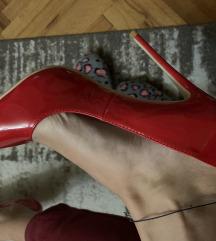 Crvene lakovane salonke NOVO