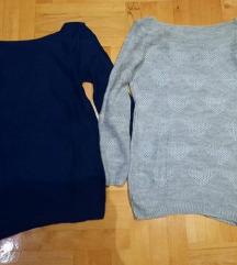 Sivi i teget džemper