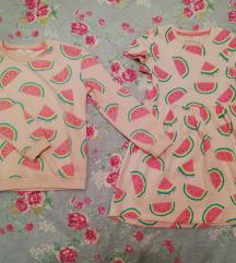 M&S nova haljina i duks za devojcice 6-7