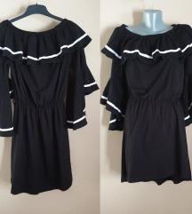 NOVA Crna haljina sa karnerima M/L