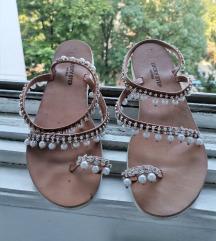 Kožne sandale sa biserima - izrada po zelji