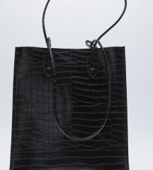 Nova crna Zarina torba sa zivotinjskim printom