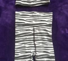 H&M kompletic zebraste 3/4 helankice i kapica,68