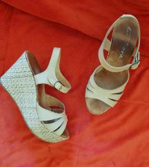 Sandale na platformu  (koza)