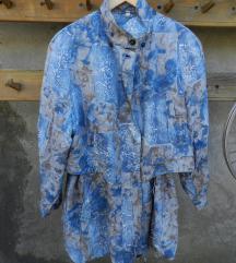 Retro svilena jakna
