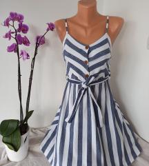 Fenomenalna prugasta haljina vel S