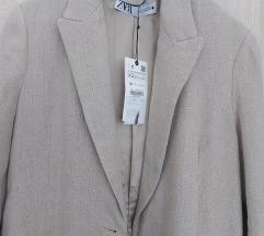Zara mantil od lana xs s