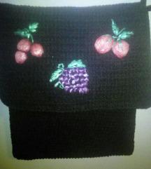 crna torbica pletena