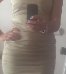 Bež svečana mini haljina