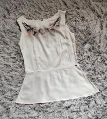 LEGEND bela svilena bluza