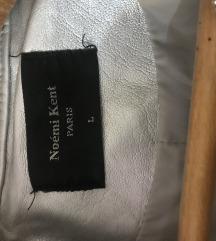 Kozna jakna srebrna PRELEPA!