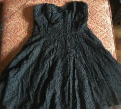 H&M crna haljina čipka