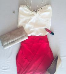 Stradivarius sexy crvena suknja  *600 rsd*