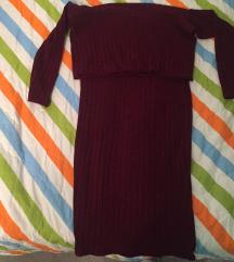 Bordo zimska haljina-uska