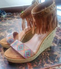 Boho sandale na platformu