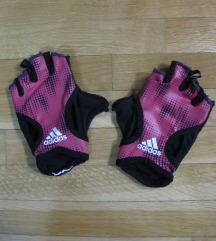 585. Adidas rukavice za vezbanje, roze