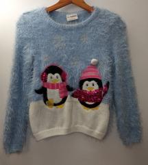 LC WAIKIKI čupavi džemper sa pingvinima
