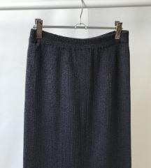 končana duža antracit suknja
