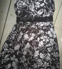 ⭐⭐Top crno bela cvetna haljinica
