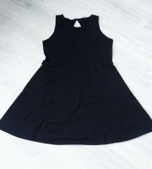 Pamučna crna haljina XL