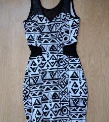 Crno-bela mini haljina