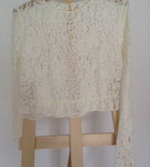 Zara cipkana top bluza