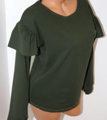 *Italijanska svečana zelena bluza*Kao nova*Vel.L