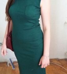 Haljinica zelena pamucna, strukirana!