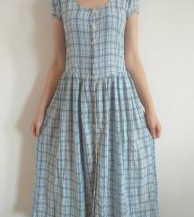 Plava karirana haljina DANAS 600 DINARA