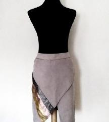 K.Zell faux suede suknja