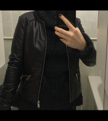 POVOLJNO crna kožna jakna