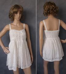 Zara pamucna cipkasta haljina