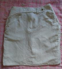 Bela suknjica od lana