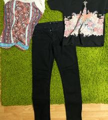 JEFTINO Pantalone i 3 majice zara mango hm