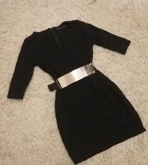 ZARA haljina na preklop V-neck