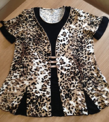 Animal print majica-bluza, 40-44