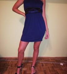 Plava top haljina