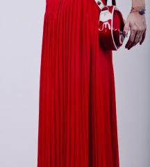 Plisirana Crvena Suknja L