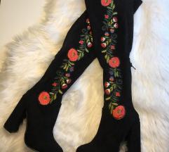 SNIZENO Embroidered cizme preko kolena