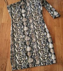 Tally weijl snake print efektna haljina XS S