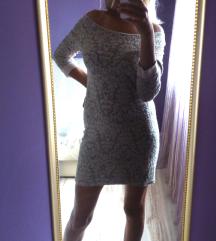 Krem haljina sa dugim rukavima 500DIN!!!