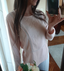 Nude bluza sa vezom 👑